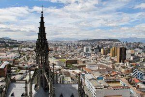 Blick über Quito, Ecuador