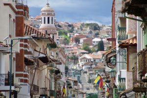 Straße in Cuenca, Ecuador