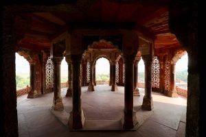 Turm im Roten Fort, Agra, Indien