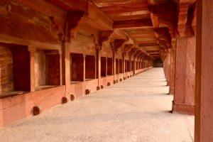 Ställe Königspalasts in Fatehpur Sikri, Indien