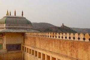 Blick vom Fort Amber, Jaipur, Indien
