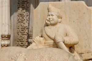 Statue im Stadtpalast von Jaipur, Indien