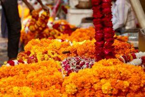 Blumenketten, Jaipur, Indien