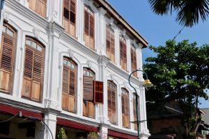 Straßendekoration in Georgetown, Penang, Malaysia