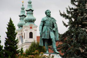 Statue von István Széchenyi, Sopron, Ungarn