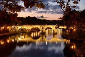 Brücke am Tiber, Rom, Italien