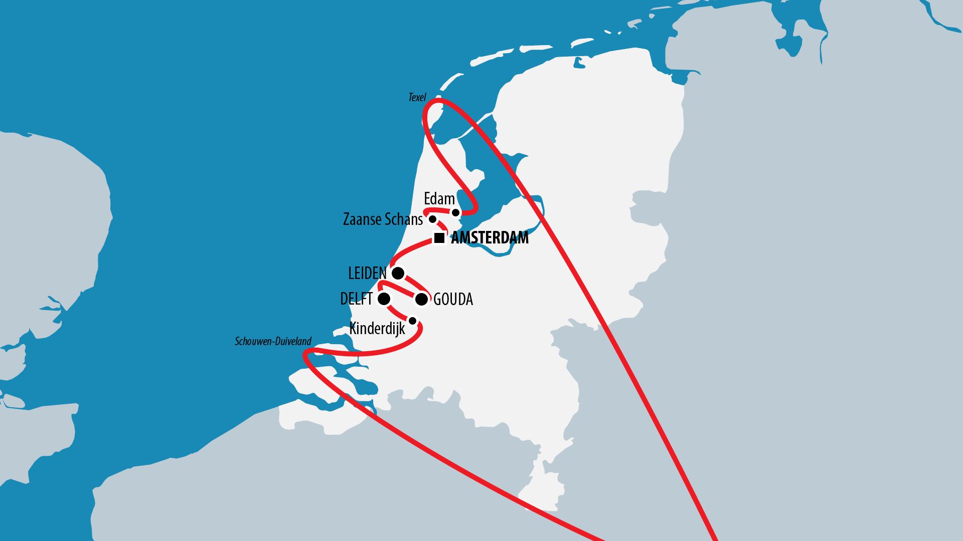 Reiseroute Niederlande 2015