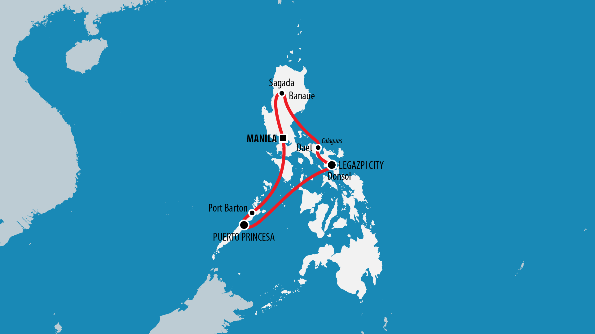 Reiseroute Philippinen 2011