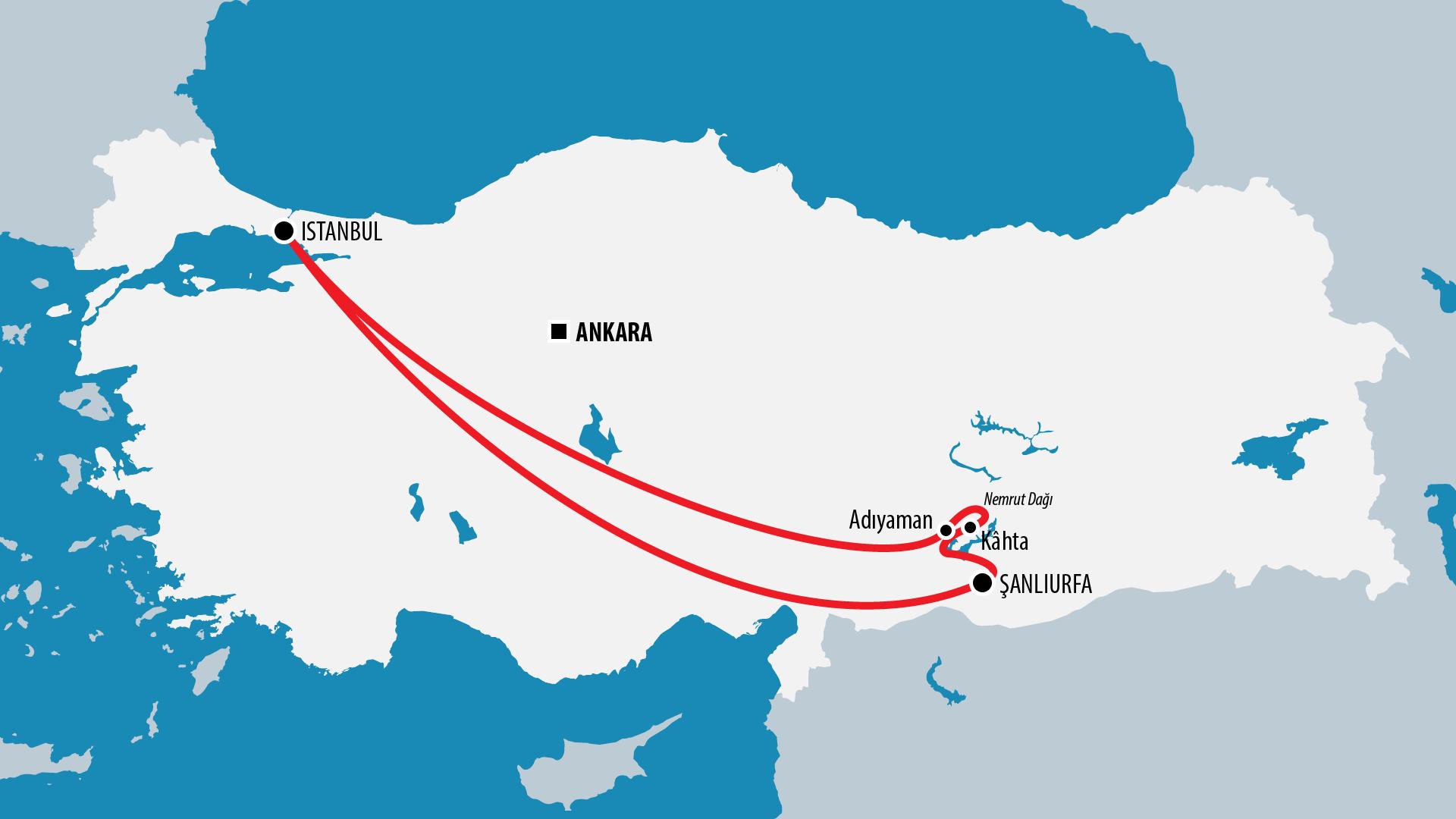 Reiseroute Türkei 2005