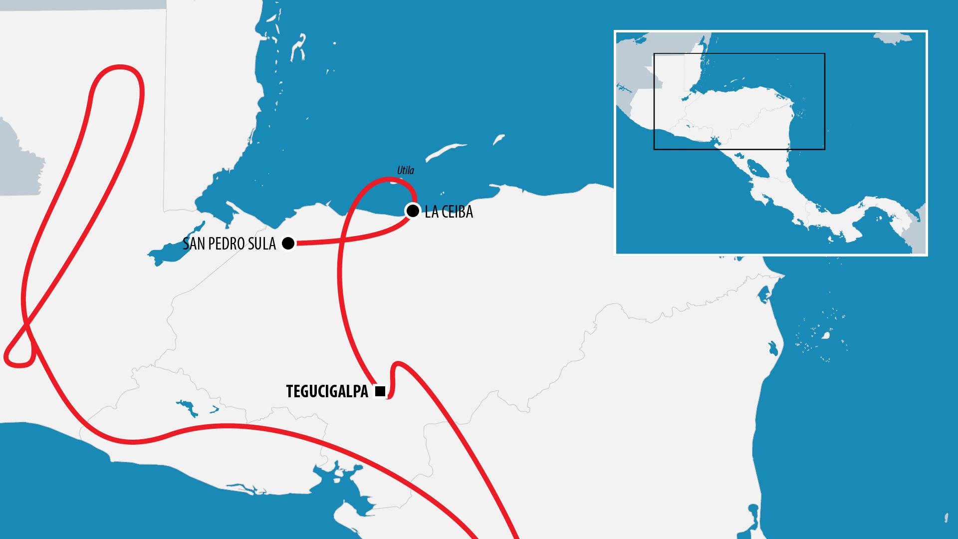 Reiseroute Zentralamerika 2012 (Honduras)