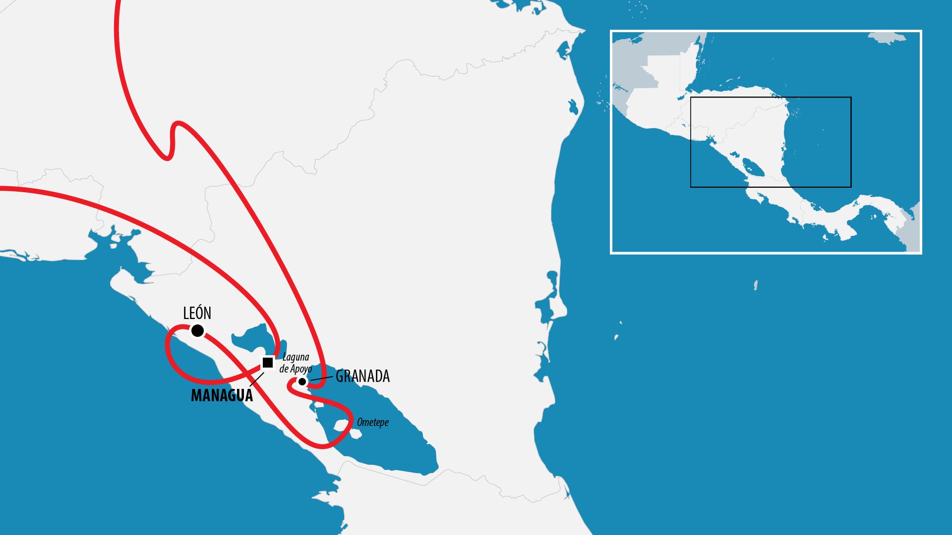 Reiseroute Zentralamerika 2012 (Nicaragua)