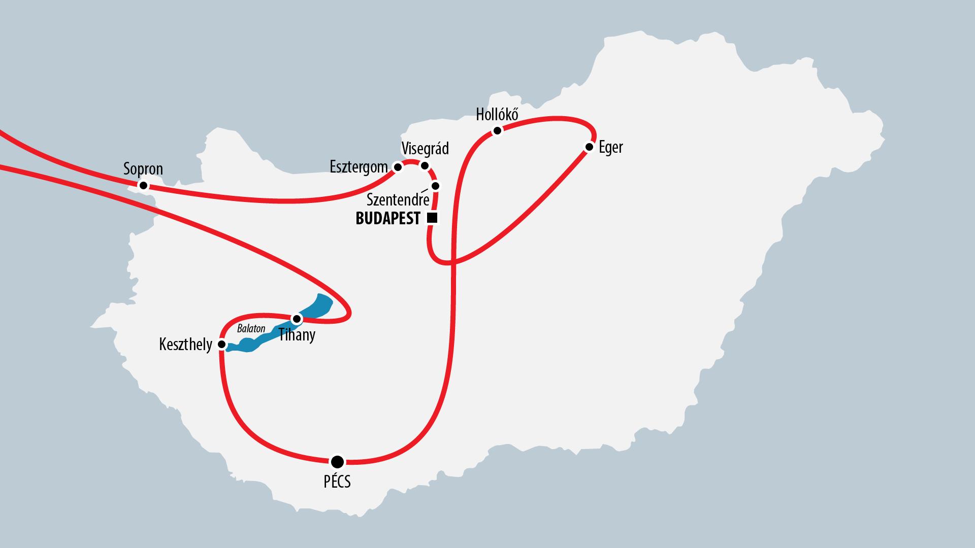 Reiseroute Ungarn 2016