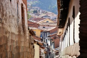 Gasse in Cusco, Peru