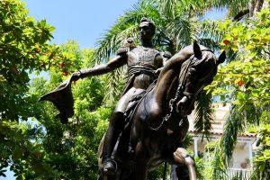 Statue in Cartagena, Kolumbien