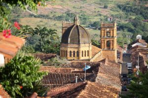 Blick auf Barichara, Kolumbien