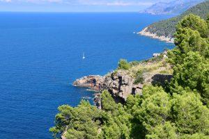 Küste der Serra de Tramuntana, Mallorca, Spanien