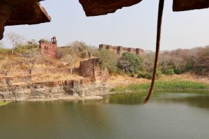 Ruinen im Fort Ranthambhore, Ranthambhore-Nationalpark, Indien