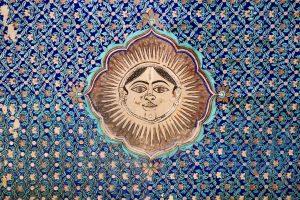 Fresko im Garh-Palast, Bundi, Indien