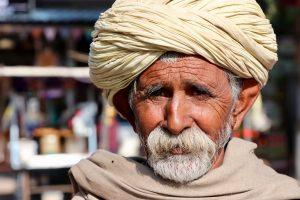 Mann in Pushkar, Indien