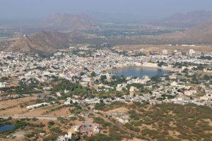 Blick auf Pushkar, Indien