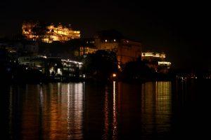 Blick auf den Stadtpalast, Udaipur, Indien