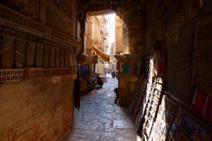Gasse im Fort Jaisalmer, Jaisalmer, Indien