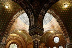Innenraum der Spanischen Synagoge, Prag, Tschechien