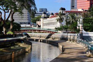 Flussufer in Kuala Lumpur, Malaysia