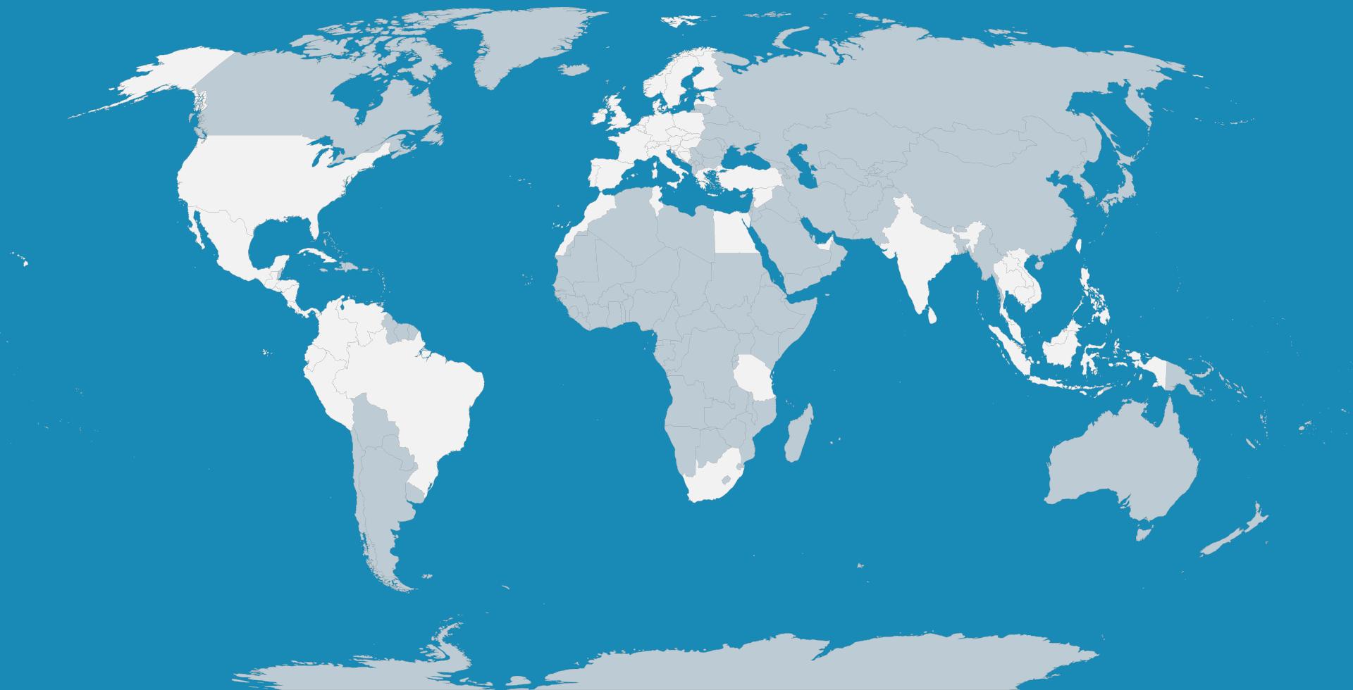 Wo ich schon war – Weltkarte