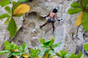 Kletterer auf Rai Leh, Thailand