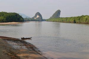 Fluss in Krabi, Thailand