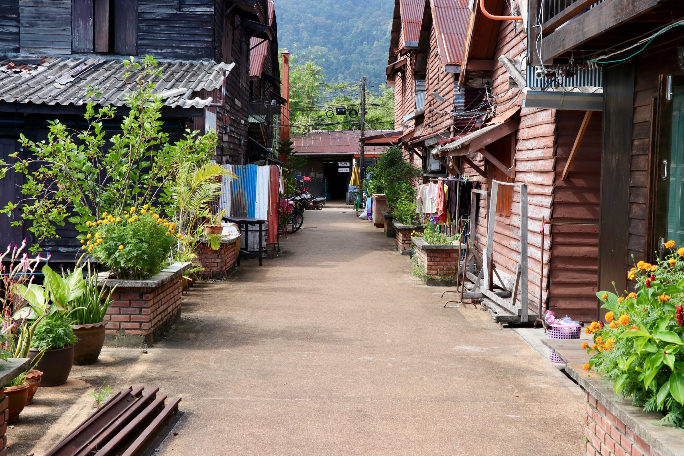 Häuser in Old Town, Ko Lanta Yai, Thailand