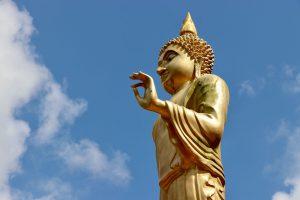 Statue an einem buddhistischen Tempel, Ko Pha-ngan, Thailand