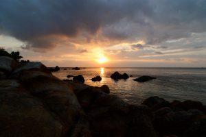 Sonnenuntergang auf Ko Pha-ngan, Thailand