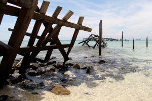 Strand von Samalona, Sulawesi, Indonesien