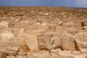 Fassade der Cheops-Pyramide, Gizeh, Ägypten