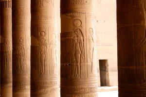 Säulen im Tempel von Philae, Ägypten