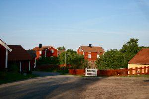 Dorf in Småland, Schweden