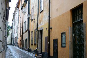 Gasse in Stockholm, Schweden