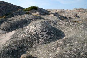 Felsboden an der Westküste von Schweden