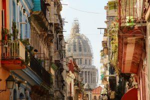 Blick auf das Kapitol in Havanna, La Habana, Kuba