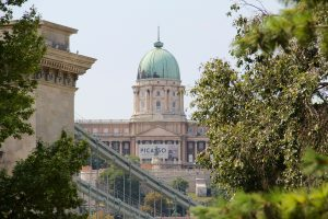 Blick auf den Burgpalast, Budapest, Ungarn