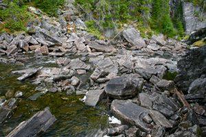 Fluss in Nordland, Norwegen