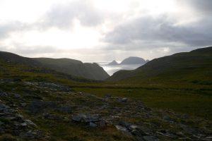 Blick über Knivskjellodden, Finnmark, Norwegen