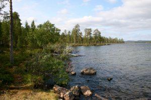 Ufer des Inarijärvi, Lappland, Finnland