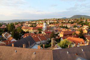 Blick über Eger, Ungarn