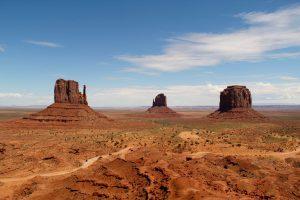 Tafelberge im Monument Valley, Arizona, USA