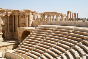 Sitzreihen des Theaters von Palmyra, Syrien