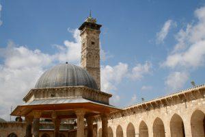 Innenhof der Umayyaden-Moschee, Aleppo, Syrien