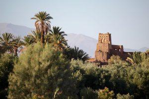 Kasbah in den Palmengärten von Skoura, Marokko